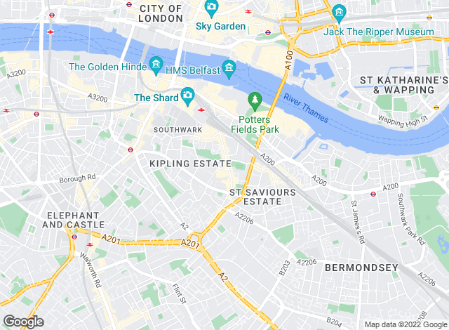 Map for Acorn, London Bridge