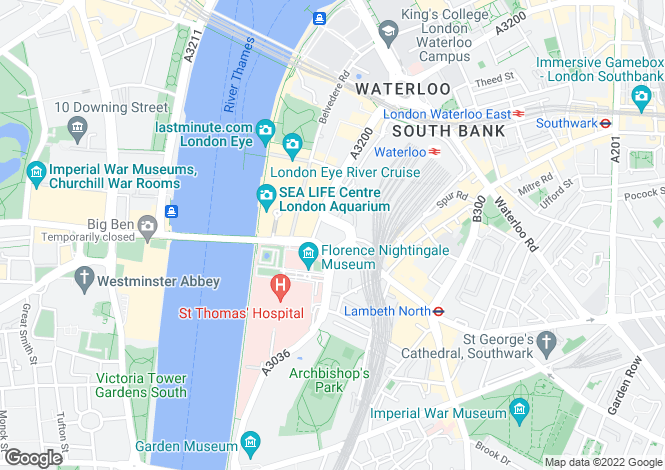 Map for Park Plaza Westminster Bridge Hotel, 200 Westminster Bridge Road, London