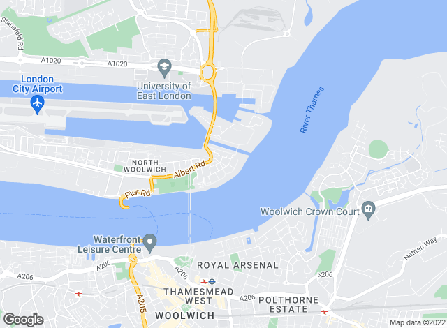 Map for Outlook, Royal Docks