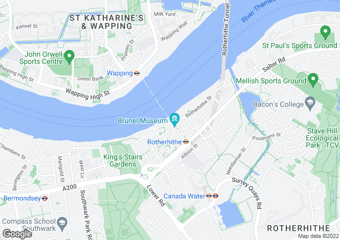 Map for Hope Wharf, 107 Rotherhithe Street, London, SE16