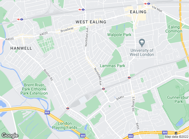 Map for Northfields, Ealing - Sales