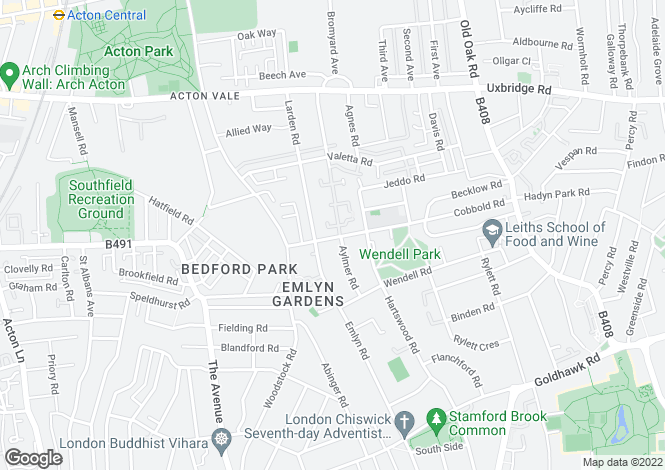 Map for Cobbold Road, Wendell Park, London