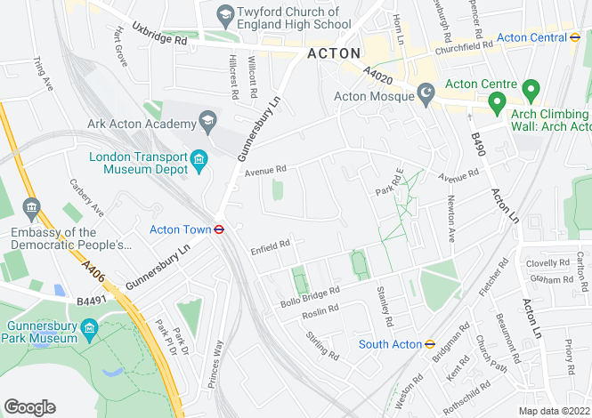 Map for Avenue Crescent, London, W3