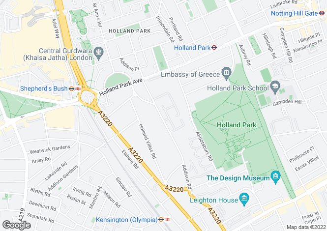 Map for Woodsford Square, Kensington, London, W14 8DT