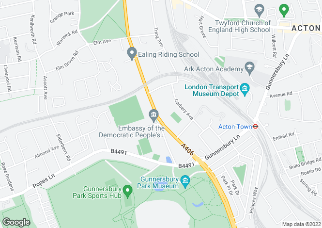 Map for Gunnersbury Avenue, London W5