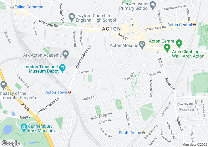 Map for Avenue Gardens, Acton, London