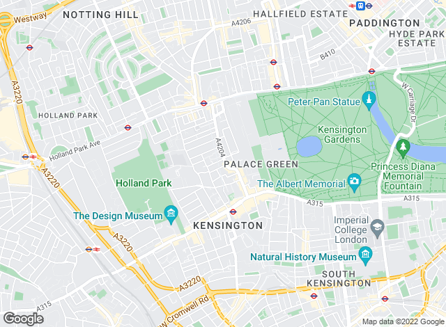 Map for Savills, Kensington