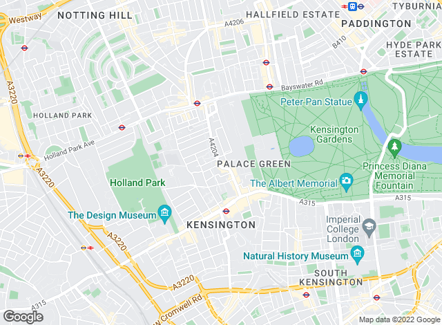 Map for Knight Frank - Lettings, Kensington