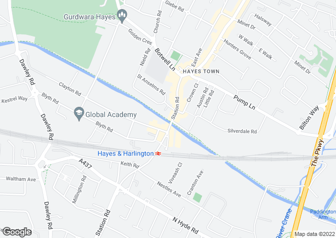 Map for HAYES
