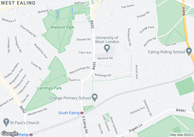 Map for St Mary's Mews, Ealing, W5