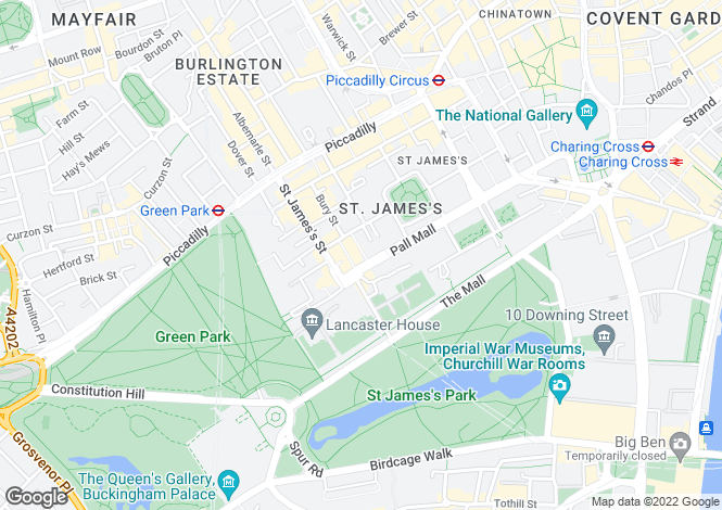 Map for 50 Pall Mall,