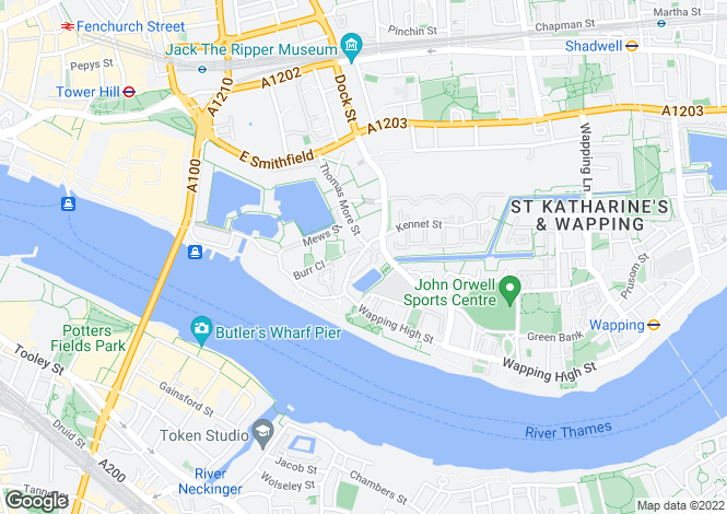 Map for Hermitage Waterside, Wapping, Wapping