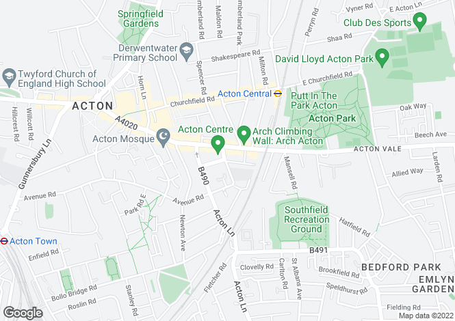 Map for Acton Lane, London, Ealing
