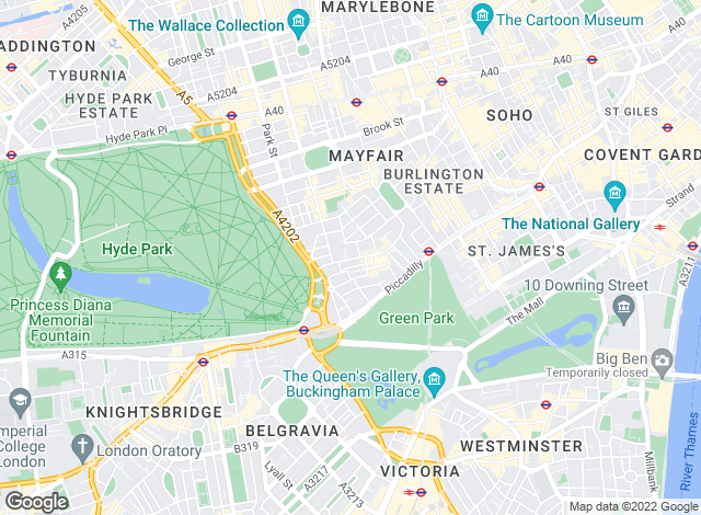 Map for Jackson-Stops & Staff � London, Mayfair