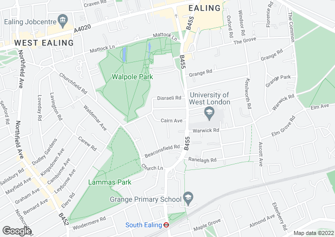 Map for Cairn Avenue, London, W5