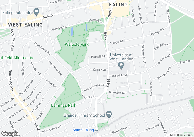 Map for Cairn Avenue, Ealing, London