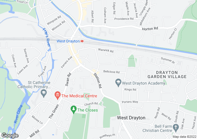 Map for Brandville Road, West Drayton, UB7