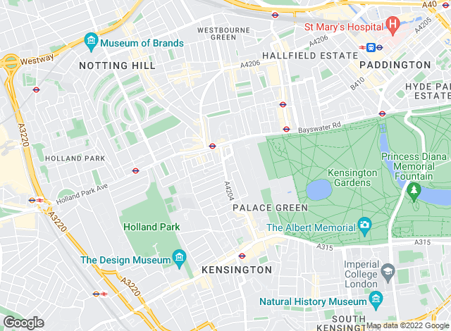 Map for John D Wood & Co. Lettings, Kensington