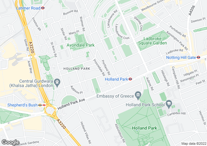 Map for Norland Square, Holland Park, London