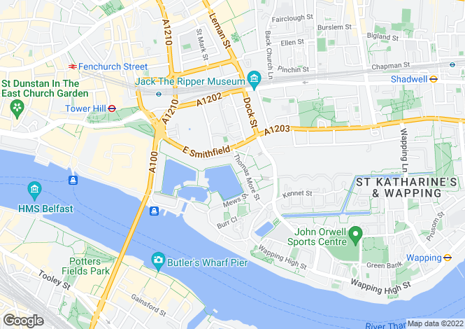 Map for Shearwater Court, City Quay, Star Place, London, E1W 1AD
