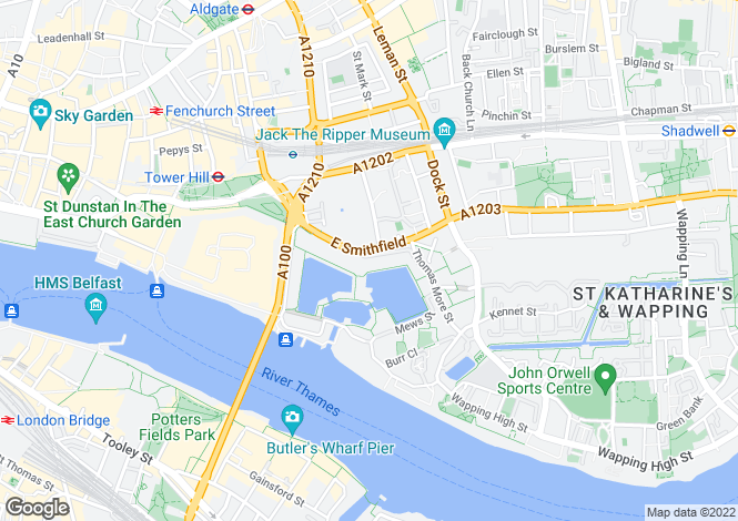 Map for Sanderling Lodge, City Quay, Star Place, London, E1W 1AJ