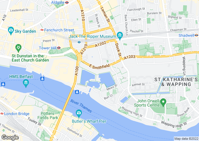 Map for Sanderling Lodge, Star Place, London, E1W