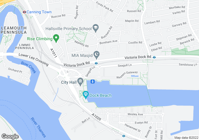 Map for Oceanis Apartments, 19 Seagull Lane, Excel/Docklands