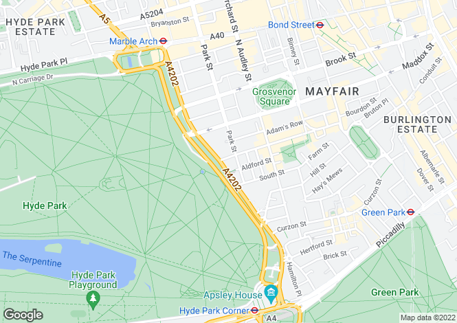 Map for Fountain House, Park Lane, Mayfair, London, W1K