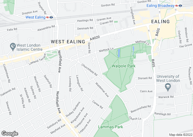 Map for Culmington Road,Ealing