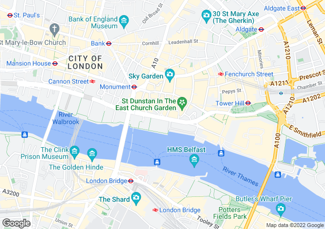 Map for Monument Street, London, EC3R
