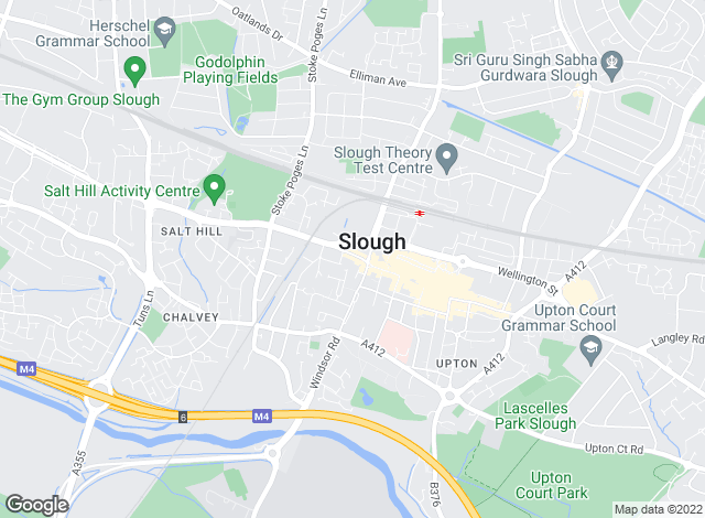 Map for Martin & Co, Slough - Lettings & Sales