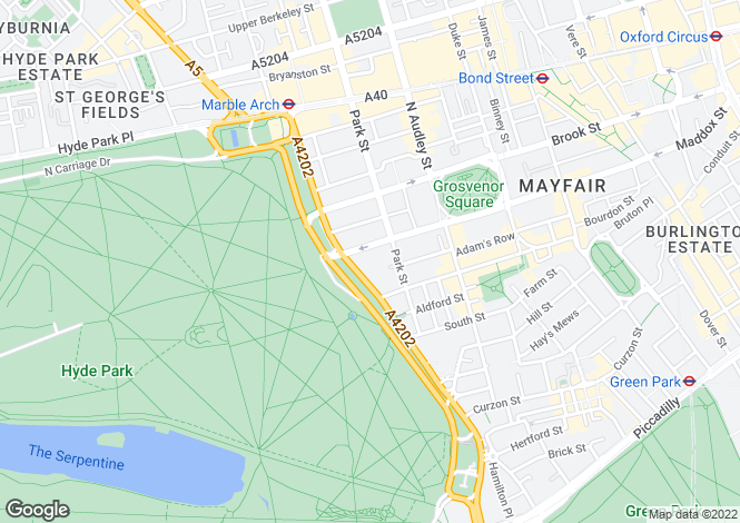 Map for Grosvenor House, Mayfair, Mayfair, London W1K 7TN