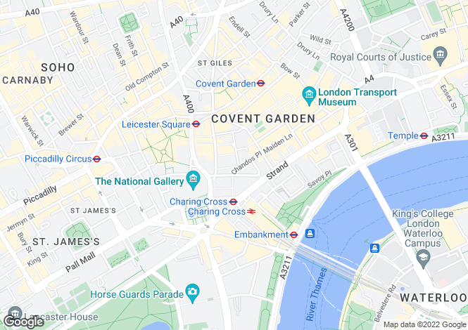 Map for 3 Bedfordbury, Covent Garden
