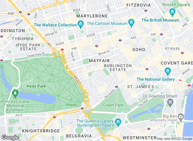 Map for Knight Frank, Mayfair