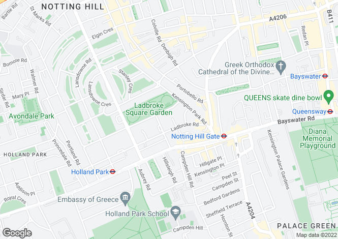 Map for Horbury Mews, Notting Hill, London, W11