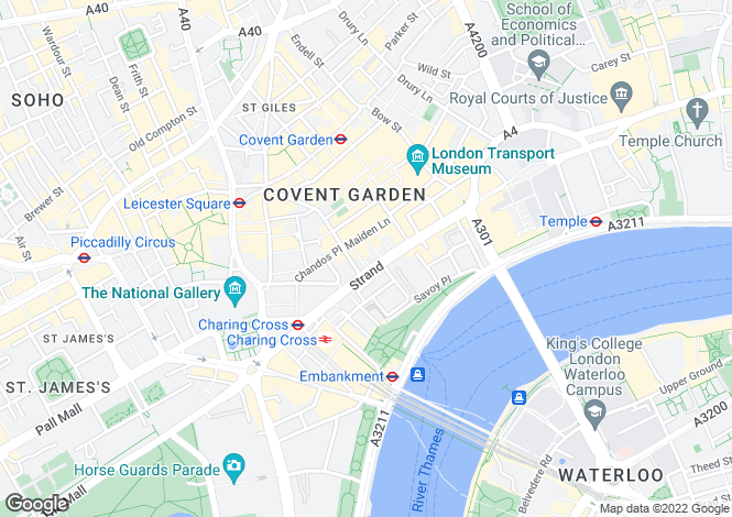 Map for Strand,