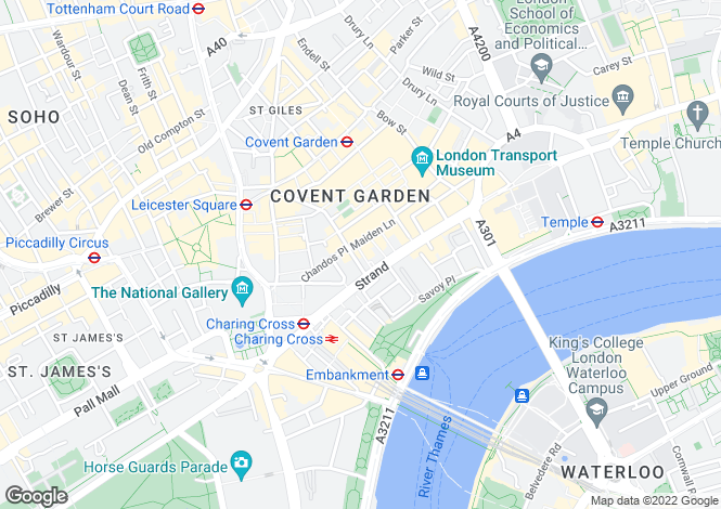 Map for Exchange Court, Covent Garden