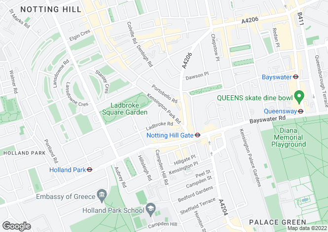 Map for Kensington Park Road, Notting Hill, W11
