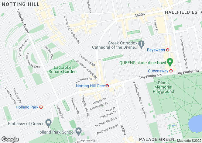 Map for Pembridge Gardens, Notting Hill, W2