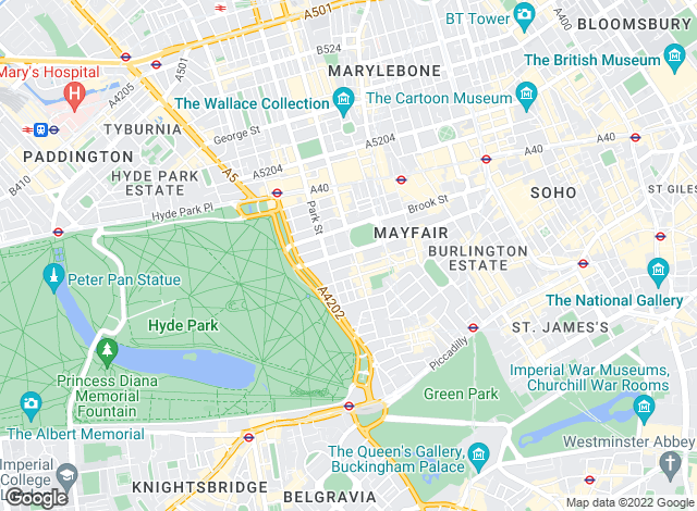 Map for Hamptons International Sales, Mayfair