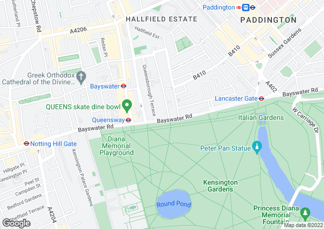 Map for The Lancasters, Bayswater Road, London