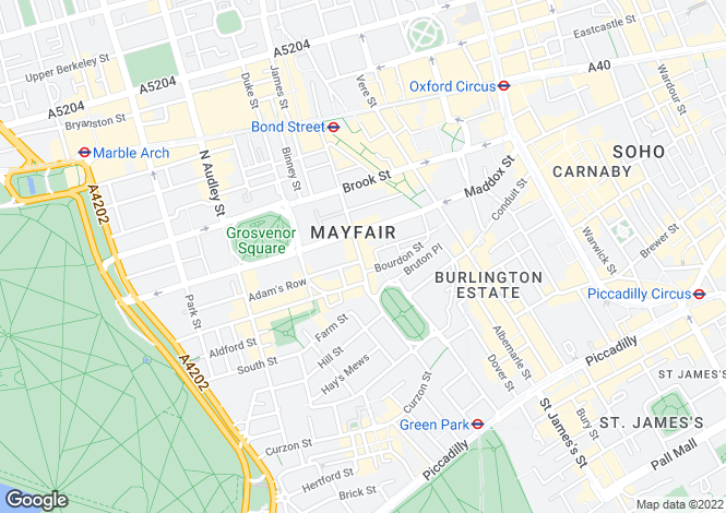 Map for The Manor, 8 Davies Street, Mayfair, London, W1K