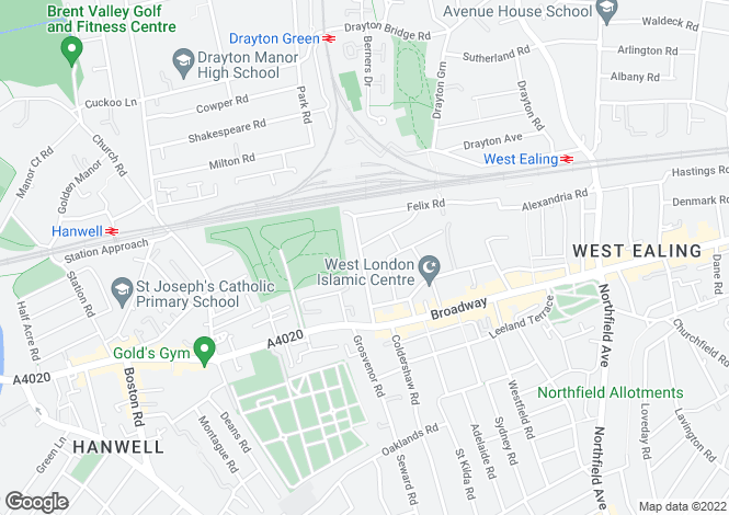 Map for Eccleston Road, W13