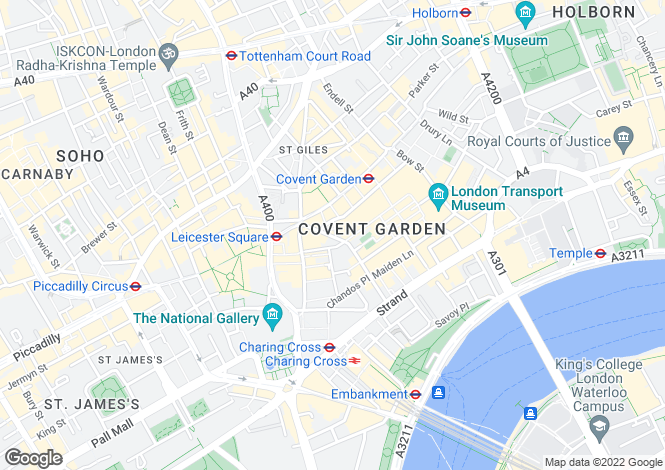 Map for Garrick Street, Covent Garden, London, WC2E