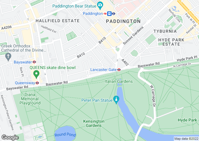 Map for Lancaster Gate,