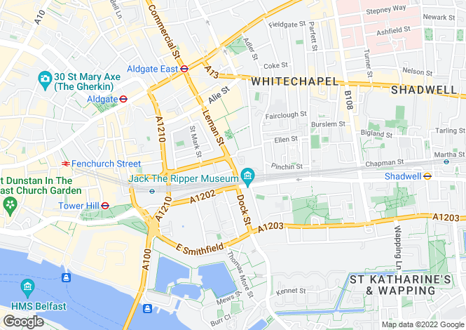Map for Plot 608 at 75 Leman Street, Leman Street,