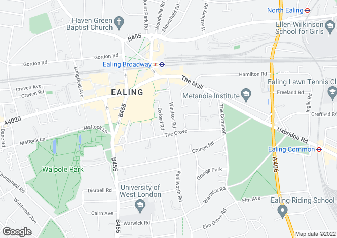 Map for Windsor Road, Ealing
