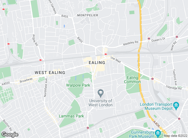 Map for Martin & Co, Ealing - Lettings & Sales