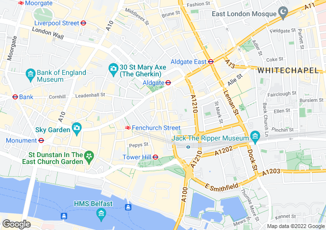 Map for Minories Tower Bridge EC3N