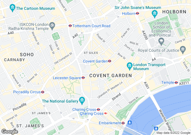 Map for Long Acre,